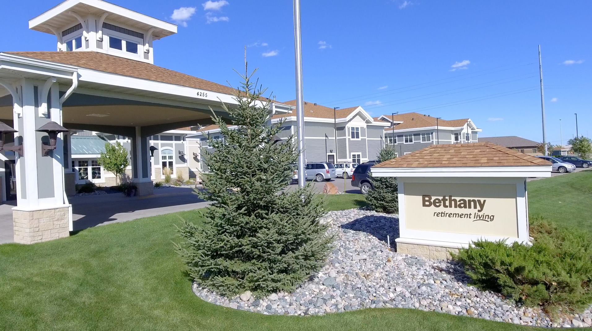 The front exterior of Bethany Retirement Living.